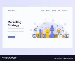 Web Design Flat Design Web Design Flat Modern Concept Marketing Strategy
