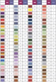 Dmc Profilo Conversion Chart List Of Colors Color Threads
