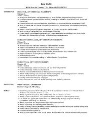 Marketing Advertising Resume Samples Velvet Jobs