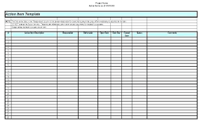 Financial Planning Sheet Excel Action Item List L Financial Planning Spreadsheet Project