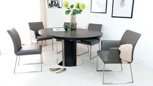 grey dining table round gray round dining table single extending white