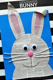 easy easter crafts for two year olds. looking for a cute easter craft kids? this super newspaper bunny is easy crafts two year olds i