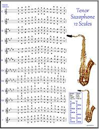 Tenor Sax Chart Tenor Saxophone Chart 12 Scales For Sax If The Band Is