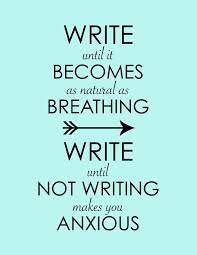 Writers Quotes Write Until It Becomes As Natural As Breathing Inspirational 10