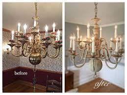 Fixer Upper Inspired Brass Chandelier Makeover