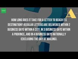 how long does it take for a letter to arrive in canada youtube pertaining to how long does it take for a letter to arrive