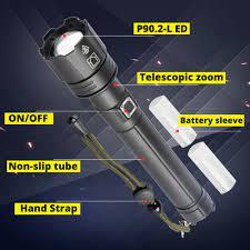 Süper güçlü XHP90 LED el fenerleri yakınlaştırma Torch XHP70 USB şarj  edilebilir fener su geçirmez lamba kullanımı 18650/26650 kamp  açık|Flashlights & Torches