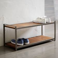 Coat Rack And Shoe Rack Industrial Shoe Rack west elm 96
