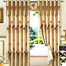 gold thermal curtains decorative tulip fl pattern coffee and gold thick thermal insulated curtains gold thermal