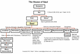 Chronicles Genealogy Chart Genealogy Of The House Of Saul