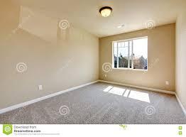 Light Grey Walls Beige Carpet Bright Empty Room One Window Beige Walls Stock Images