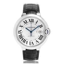 cartier ballon bleu de cartier watches the watch gallery cartier ballon bleu de cartier automatic stainless steel silver dial mens watch w69016z4