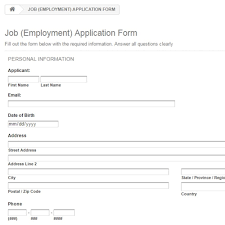 Job Employment Application Form Prestashop Addons