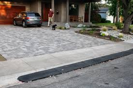 homecrunch a quick and easy driveway a thumbs up for the rubber bridjit curb ramp