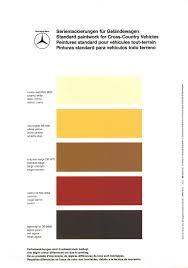 Mercedes Paint Colour Chart Mercedes Benz Gelaendewagen 460 And 463 Color Codes Color