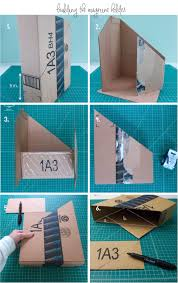 Cardboard Magazine Holder DIY Fabric Covered Magazine Holders hello aerie 59