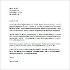 Letter Of Recommendation For Internship Sample Letter Of Recommendation For Graduate School From