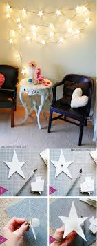 string light diy ideas for cool home decor star garland light diy are fun