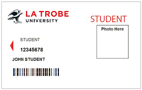 University Administration Id Student La Trobe Cards