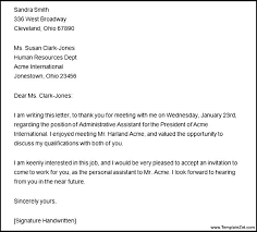 Thanks Letter After Phone Interview Cover Letter After Interview Download Thank You Letter After Phone