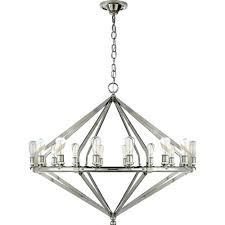 visual comfort archer extra large chandelier in polished nickel ralph lauren roark 50