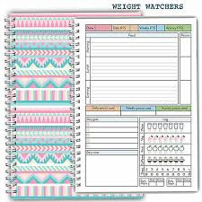 Diet Food Diary Weight Watchers Planner Tracker Log Book