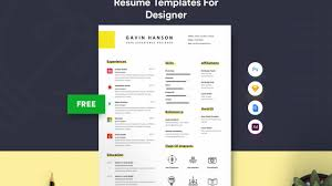 Gavin Free User Experience Designer Resume Template With