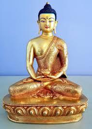 Amitabha Boeddha Beeld Vuurverguld En Goldface 22 Cm Boeddha