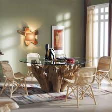 Wurzelstock Tisch Suba Inklglasplatte ø 160 Cm