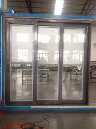 china double glazed glass door aluminum windows and door grills design with inside blinds china aluminum sliding glass door grill design