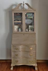 furniture secretary desk antique vintage antique gany secretary desk hutch refinished hand painted