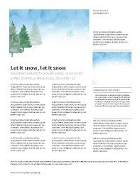 Christmas Winter Watercolor Landscape Newsletter