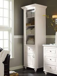 A stand-alone linen #cabinet adds charm and much-needed extra #storage