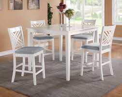 white counter height table. White Counter Height Dining Set: Table . E