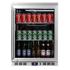 Undercounter Beverage Refrigerator Glass Door Amazoncom Kingsbottle 140 Can 1 Door Under Counter Beverage