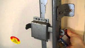 how to open a garage door manuallylock garage from inside using side latchMP4  YouTube