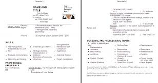 Sample Resume Format For Fresh Graduates Two Page Format 21 Sample