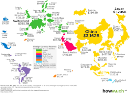 Mapped The Countries With The Most Foreign Currency Reserves