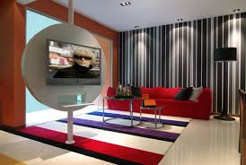 Modern Contemporary interpretation of the 60s and 70s interior design theme.
