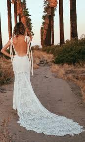 o keeffe backless lace bohemian wedding dresses open back weddi