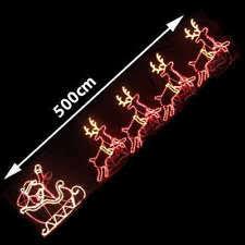 christmas rope lighting. LED Santa Riding 4 Reindeer Deer Sleigh Christmas Rope Motif Light Lighting R