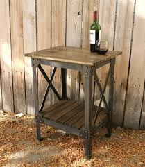 industrial metal and wood furniture. Handmade Scrap Metal And Wood Table Industrial Furniture T