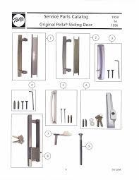 pella sliding door handle interior pull roman bronze