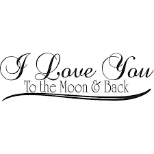 Quote I Love You To The Moon And Back Gorgeous Shop Design On Style 'I Love You To The Moon And Back' Vinyl Wall