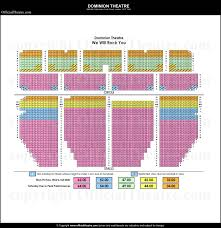 Dominion Theatre Seating Plan Theatre Theater Seating