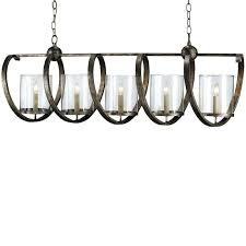 Spiro Spiral Bronze Iron 5 Light Modern Island Chandelier ...