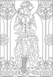 Small Picture Adult Coloring Pages Creative Haven Steampunk Fashions Coloring