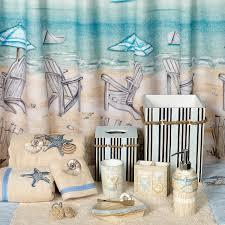 Bathroom Beach Accessories Beach Themed Bathroom Shower Curtains