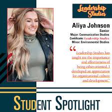 Congratulations to 2020 Leadership Studies graduate, Aliya Johnson ...