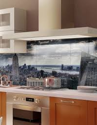 dramatic new york skyline kitchen splashback